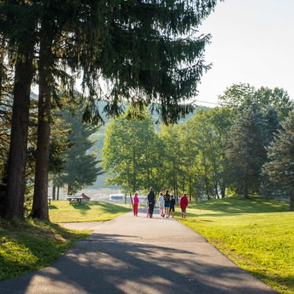 campers-walking